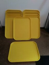 Rubbermaid Yellow Plastic Outdoor Serving Lunch/ Camping Tray 13×10 12 Total