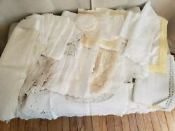 Huge 42 Piece Lot Of Vintage Linens - Table Runners And Doilies