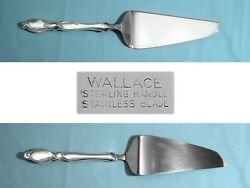 Wallace Sterling 11 1/4 Pie And Cake Server Silver Swirl No Mono
