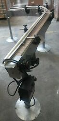 4 W X 6and039 X 4and039 Long Stainless Conveyor With 90 Degree Curve