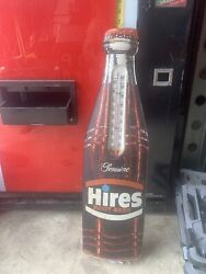 Vintage Antique 1960's Hires Root Beer Bottle Thermometer