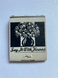 1950and039s Carland039s Floral Shop Carl F Gerlach State Bank Bldg Park Falls Wi Matchbook