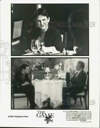 1997 Press Photo Actors Sean Penn And Michael Douglas In The Game Movie