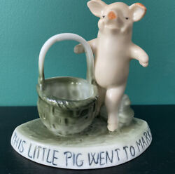 Outstanding Victorian Edwardian This Little Pig Went To Market Fairing Posy
