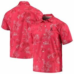 Los Angeles Angels Tommy Bahama Seventh Inning Button-up Shirt - Red