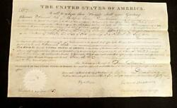 James Monroe - Land Grant Signed 12/08/1824 - Wooster Ohio - 160 Acres