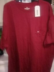 2 Nwt Outdoor Life Black And Burgundy Pocket T-shirts Men's Cotton 3xlt Nwt
