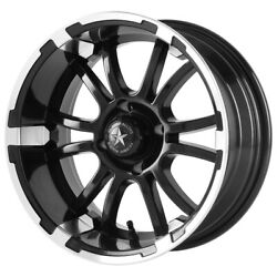 4-fairway Alloys Fa132 Sixer 12x6 4x4 -20mm Black/machined Wheels Rims 12 Inch