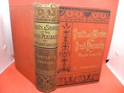 Traits And Stories Of The Irish Peasantry Old Antique Book Carleton Story Legends