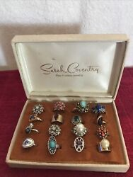 Vintage Sarah Coventry Jewelry 16ct Ring Cs And 4 Bracelets
