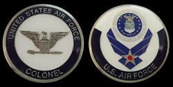Us Air Force Colonel O6 Rank Challenge Coin Military Collectible Coins