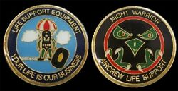 Us Air Force Aircrew Life Support Night Warrior Challenge Coin Military Coins