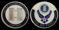 Us Air Force Captain O3 Rank Challenge Coin Military Collectible Coins