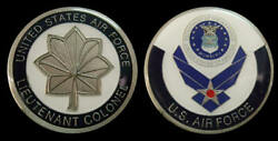 Us Air Force Lieutenant Colonel Rank Challenge Coin Military Collectible Coins