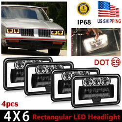 Halo 4x6 Inch 300w Led Headlight Drl For Chevrolet Camaro High Low Sealed Beam
