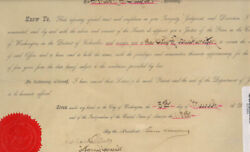Grover Cleveland - Civil Appointment Signed 03/05/1894 With Co-signers