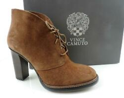 Women's Shoes Vince Camuto Lehanna Lace Up Ankle Booties Suede Brown Size 6.5