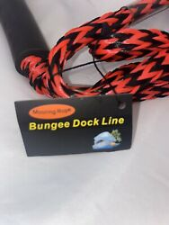 2pcs Marine Bungee Dock Line/boat Mooring Rope Bungee Tie Down Stretch Red Eob