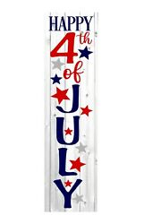 24 Inch 2 Foot Tall Happy 4th Of July Patriotic Summer Vertical Wood Sign