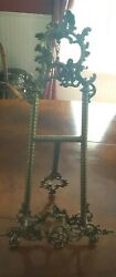 Book/music Stand. Old Ornate Metal Brass Stand From Greenwich Estate