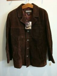 Menand039s Structure Urban Wear Brown Suede Jacket Coat Size L