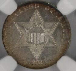 1869 Proof Three Cent Silver. Highland Collection. Ngc Pf64 Cac. Et3200/esn