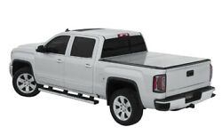 Lomax Hard Trifold Bed Cover For 2020-2021 Jeep Gladiator Diamond Plate Silver