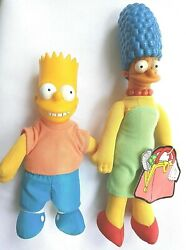 Meet The Simpsons Marge And Bart Simpson Dolls Burger King Collectibles1990
