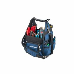 Premium 10 Inch Open Soft Sided Electrician's Tool Bag Tote 600 Denier Polyester