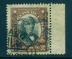 Chile 1928 Airmail Overprint Perez 30c Brown Sc C18a Double And Inverted Ovpt Rrr