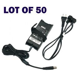 Lot Of 50 Genuine Dell Fa65ns0-00 Ac Laptop Power Adapter 19.5v 3.34a 65w W/pc