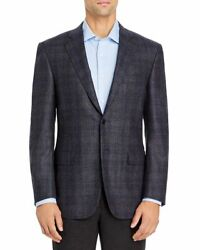 Canali Siena Brushed Plaid Soft Classic Fit Brown Wool Sport Coat 2239 Size 58 L