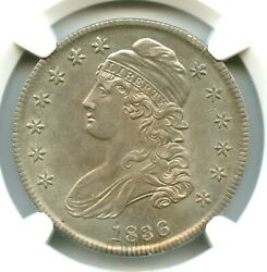 1836 Lettered Edge O-104a Capped Bust Half Dollar Ngc Ms64