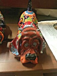 Talavera Mexican Pottery - Animals - Bloodhound  Free Shipping
