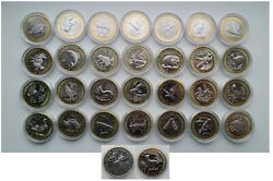 Set Of 30 Tokens From The Series Red Book Of The Ussr In Albums.