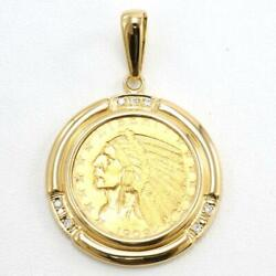 American 5dollars Indian Coin Gold 18k Pendant Top Diamond Free Shipping Used