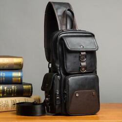 Gumst Leather Crossbody Bags For Men Messenger Chest Bag New Fashion Casual $35.26