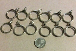 12 Coin Bezels, Nickel Plated, 10 Cent Size