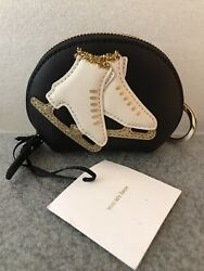 Kate Spade Winter Wonderland Ice Skating Leather Coin Purse Keyring Pre-owned