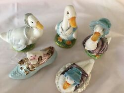 Lot Of 5 Beatrix Potter Figurines Beswick england Perfect- Instant Collection.