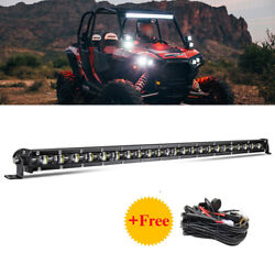Roof 32 Slim Led Light Bar Driving Lamp Wire For Polaris Rzr Xp 4 1000 900 800
