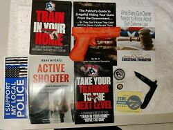 Uscca Train In Your Home Pistol Dvd, Pocket Knife, Uscca Metal, Nra Patriot Life