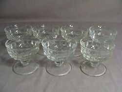 7 Fostoria Sherbet Dishes In The American Clear Pattern