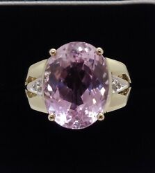 Fine Large Amethyst And Diamond Ring 375 9ct Gold - Size U Us - 10 - 8.1g