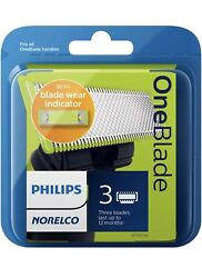 Philips Norelco - Oneblade Replacement Blade 3-pack - Silver/green/black