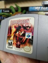 Carmageddon 64 N64 Game Authentic Us Release Shown Tested