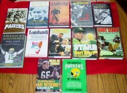 12 Vintage Book Collection Of Green Bay Packers Lambeau Lombardi Starr ++++