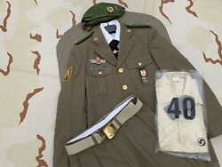 Old Spanish Army Goe Iv Special Operations Green Beret Uniform Set Spain