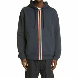 Mens Burner Tops Lexington Icon Stripe Organic Cotton Zip Hoodie