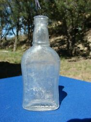 Vtg Liberty Bell Bottle Clear As A Bell Owens Illinois Duraglas Mark